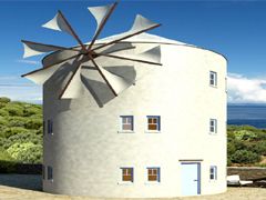 New build windmill in Greece